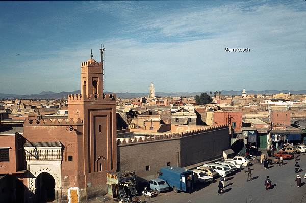 View of the city of Marrakesh