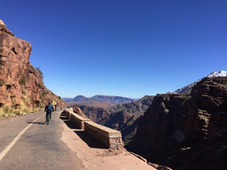 Cycle trip in the Atlas mountains of Morroco