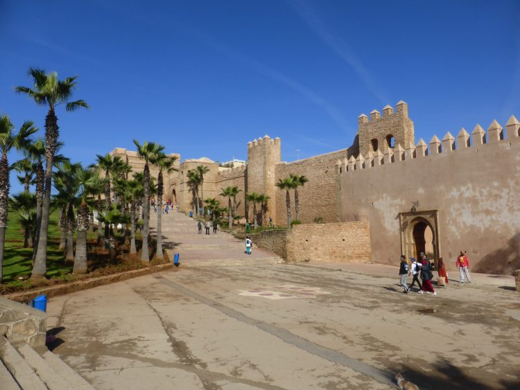 View of the city of Rabat in Morocco