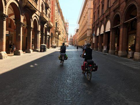 Blick auf das Zentrum in Bologna