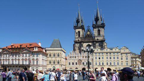 Blick auf das Zentrum von Dresden